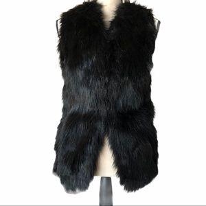 Sebby Collection Faux Fur Sweater Vest